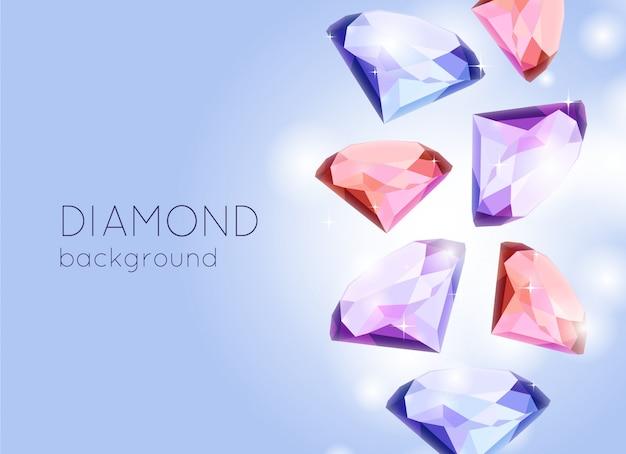 Fond de diamant