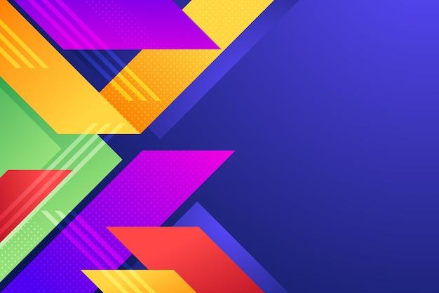 Fond avec différentes formes colorées