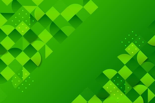 Fond avec différentes formes vertes