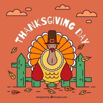 Fond de dinde de thanksgiving
