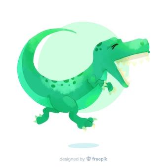 Fond de dinosaure aquarelle t-rex