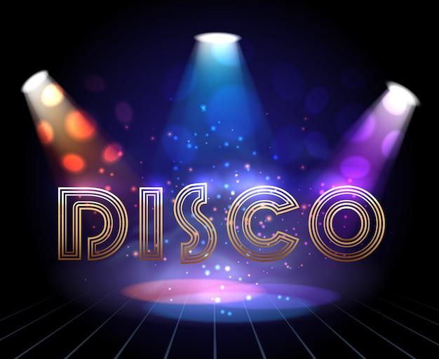 Fond disco avec spots