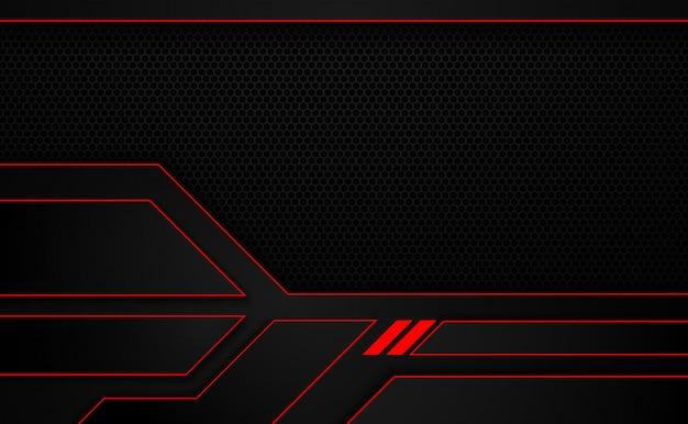 Fond de disposition de cadre métallique rouge noir