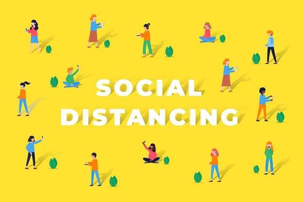 Fond de distanciation sociale