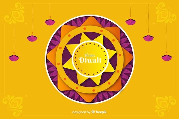 Fond de diwali dans le style de papier