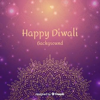 Fond de diwali dessinés à la main