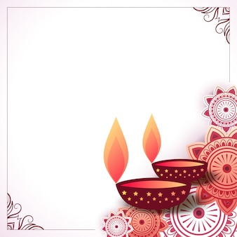 Fond de diwali heureux décoratif indien