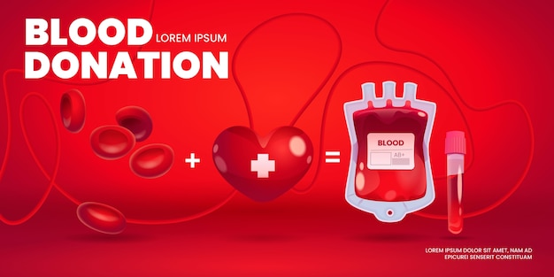 Fond de don de sang de dessin animé