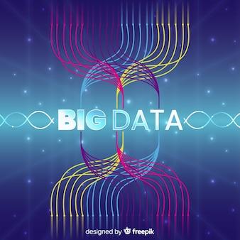 Fond de données abstrait et créatif