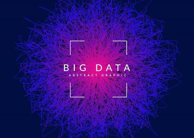 Fond de données volumineuses. technologie de visualisation