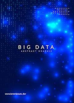 Fond de données volumineuses.