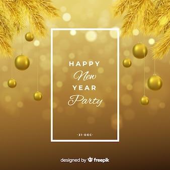 Fond doré du nouvel an 2019