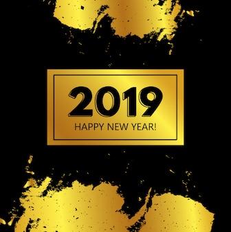 Fond doré du nouvel an
