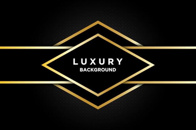 Fond doré de luxe 3d noir