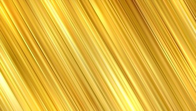 Fond doré premium avec conception de lignes de mouvement