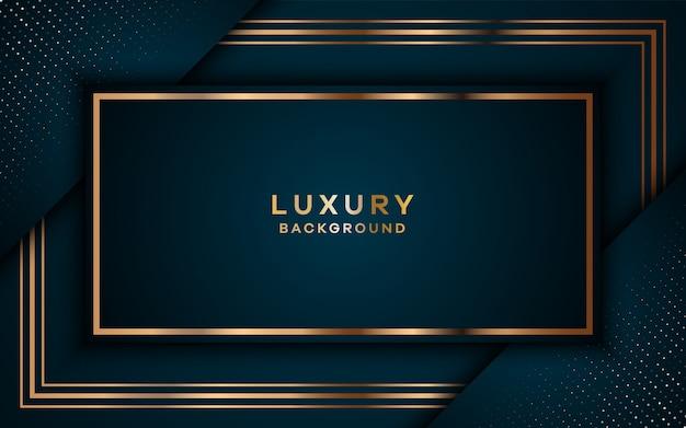 Fond doré royal de luxe avec des couches de chevauchement.