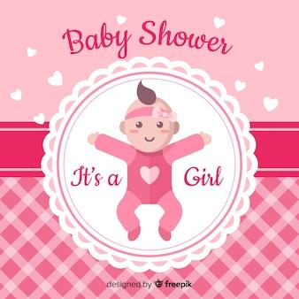 Fond de douche de bébé mignon