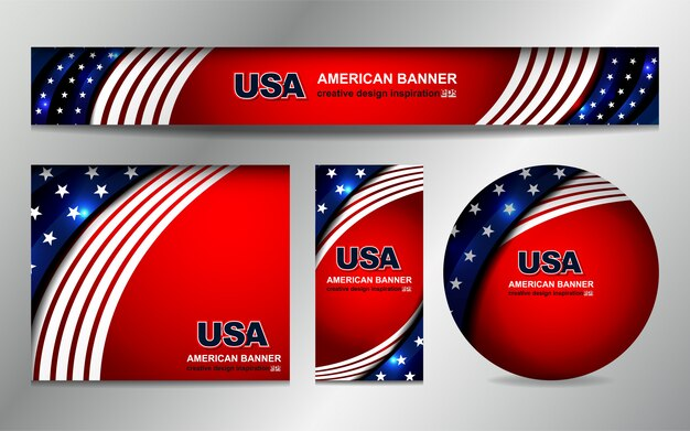 Fond de drapeau américain pour le jour de l'indépendance