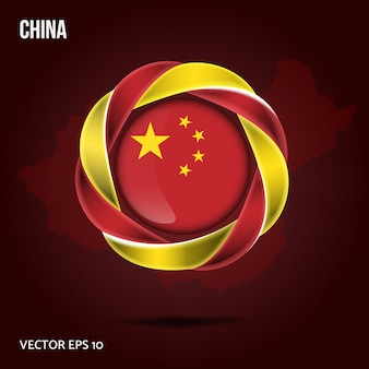 Fond de drapeau de la chine