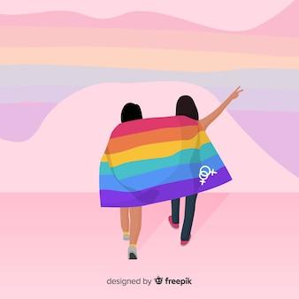 Fond de drapeau coloré fierté