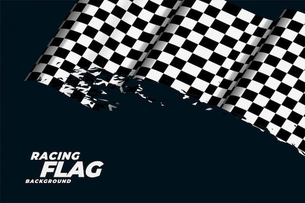 Fond de drapeau de course à damier