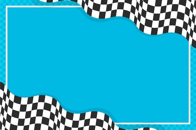Fond de drapeau à damier de course de style plat