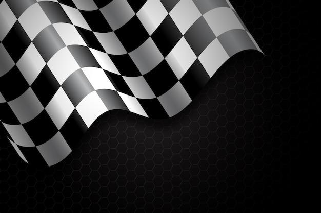 Fond de drapeau à damier de course
