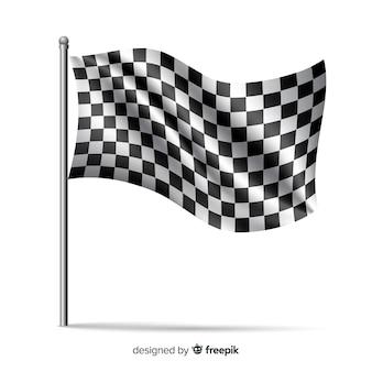 Fond de drapeau à damier dans un style réaliste