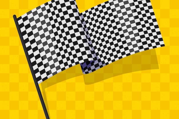 Fond de drapeau à damier plat racing