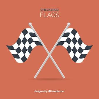 Fond de drapeau à damier