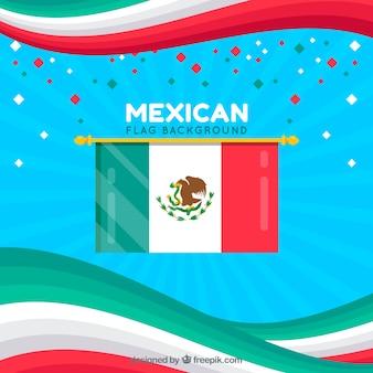 Fond de drapeau du mexique