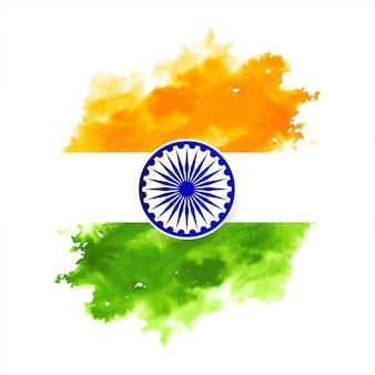 Fond de drapeau indien tricolore