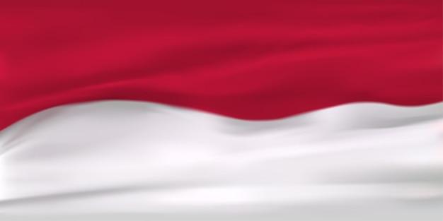 Fond de drapeau indonésien