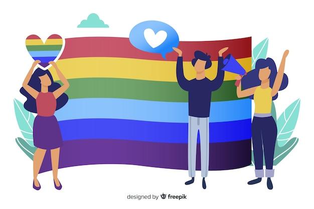 Fond de drapeau jour de fierté