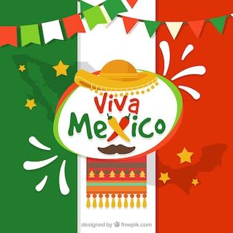 Fond de drapeau mexicain