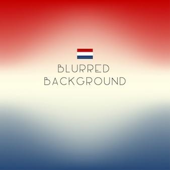 Fond de drapeau néerlandais de couleur floue.