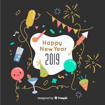 Fond drôle de nouvel an
