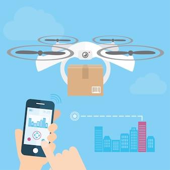 Fond de drone de livraison