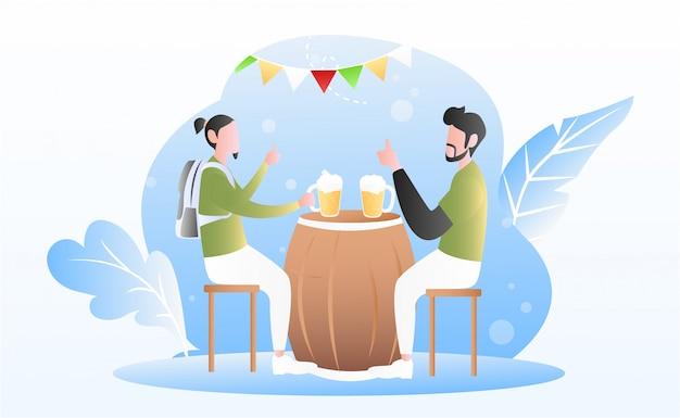 Fond du festival oktoberfest