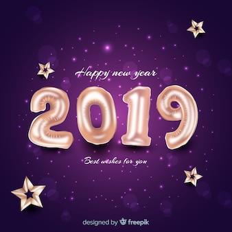 Fond du nouvel an 2019