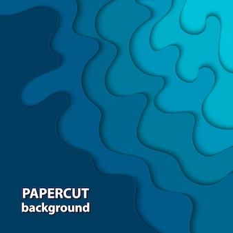 Fond avec du papier de couleur bleu foncé coupé