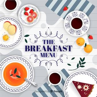 Fond du petit déjeuner