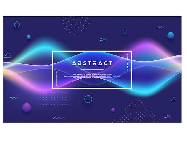 Fond dynamique abstrait flux lumineux
