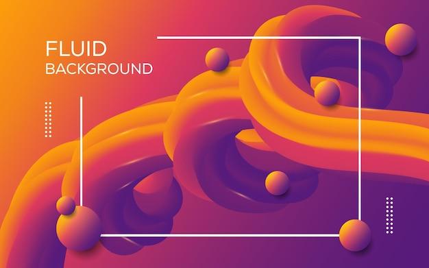 Fond dynamique coloré abstrait fluide abstrait vecteur premium