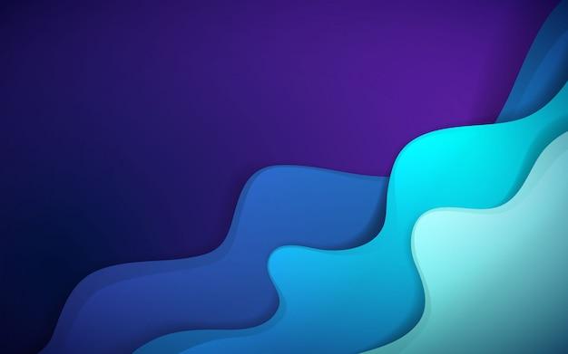 Fond dynamique avec forme fluide de couleur