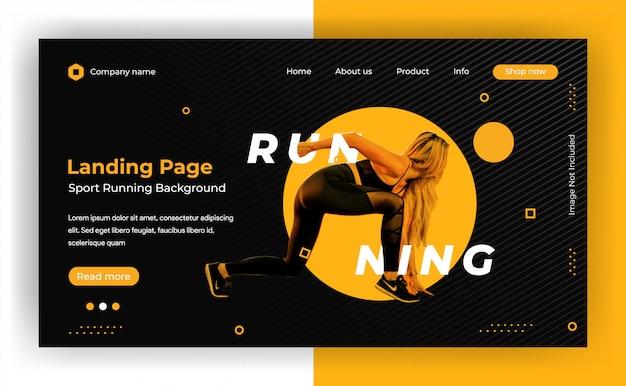 Fond dynamique de la page de destination du site web
