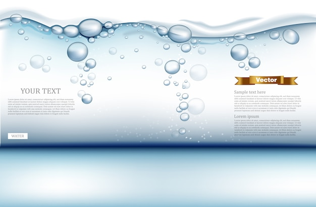 Fond de l'eau avec des bulles