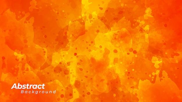 Fond d'éclaboussure d'encre orange.