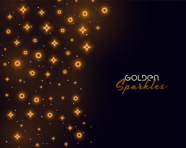 Fond d'éclat doré pour la célébration ou l'événement
