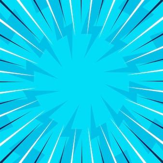 Fond d'éclatement bleu comique